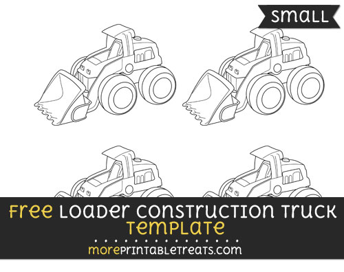 Free Loader Construction Truck Template - Small