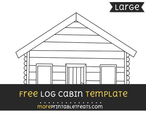 Free Log Cabin Template - Large