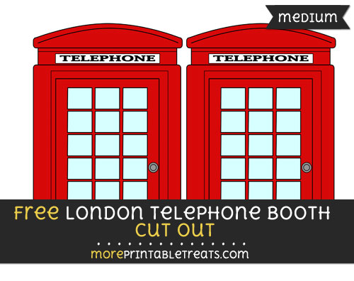 Free London Telephone Booth Cut Out - Medium Size Printable