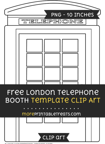 Free London Telephone Booth Template - Clipart