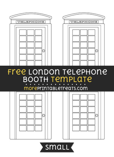 Free London Telephone Booth Template - Small