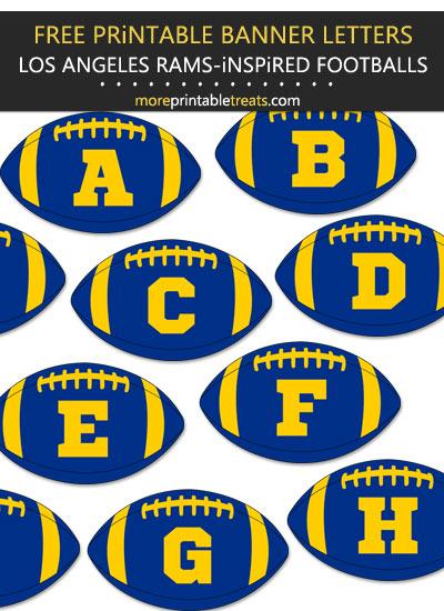 Free Printable Los Angeles Rams-Inspired Football Alphabet