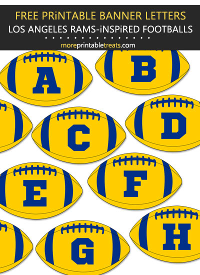 Free Printable Los Angeles Rams-Inspired Football Bunting Banner