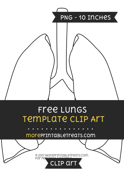 Free Lungs Template - Clipart
