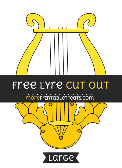 Free Lyre Cut Out - Large size printable
