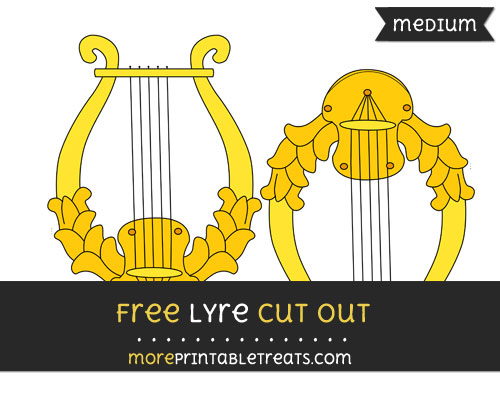 Free Lyre Cut Out - Medium Size Printable
