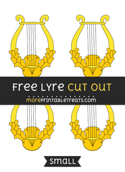 Free Lyre Cut Out - Small Size Printable
