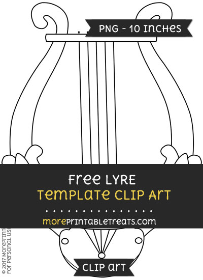 Free Lyre Template - Clipart
