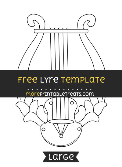 Free Lyre Template - Large