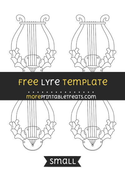 Free Lyre Template - Small