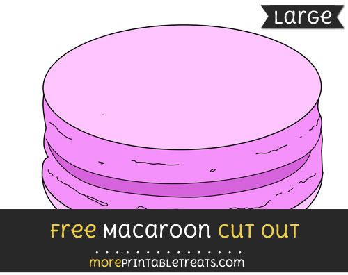 Free Macaroon Cut Out - Large size printable