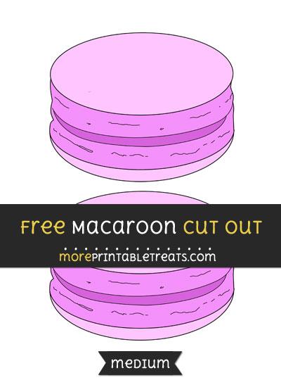 Free Macaroon Cut Out - Medium Size Printable
