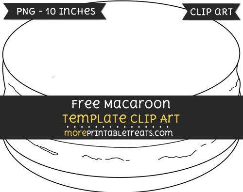 Free Macaroon Template - Clipart