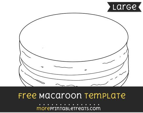 Free Macaroon Template - Large