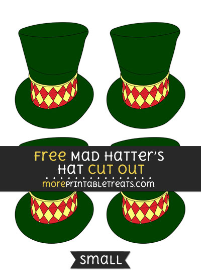 Free Mad Hatters Hat Cut Out - Small Size Printable