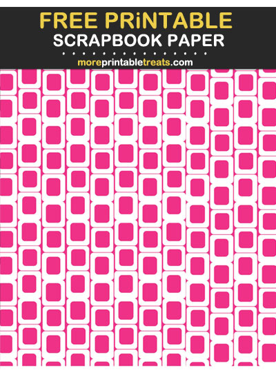 Free Printable Magenta Retro Rectangles Scrapbook Paper