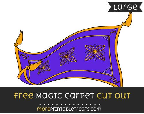 Free Magic Carpet Cut Out - Large size printable