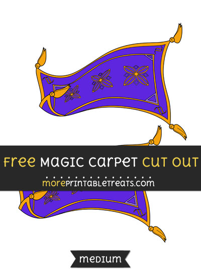 Free Magic Carpet Cut Out - Medium Size Printable