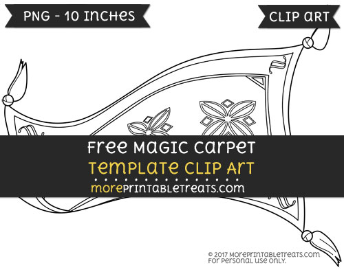 Free Magic Carpet Template - Clipart