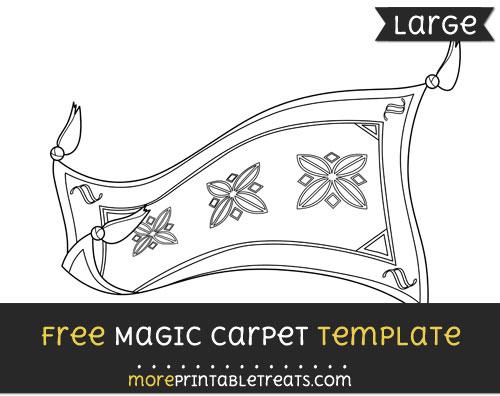 Free Magic Carpet Template - Large