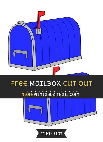 Free Mailbox Cut Out - Medium Size Printable