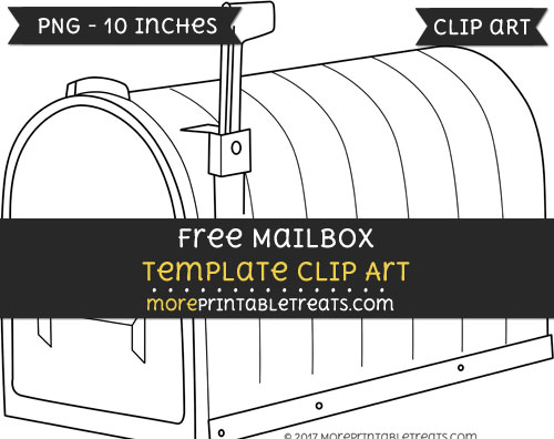 Free Mailbox Template - Clipart