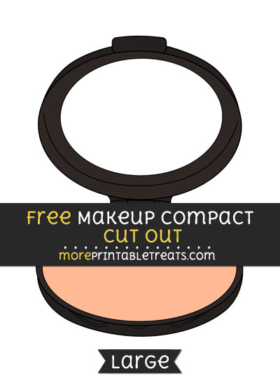 Free Makeup Compact Cut Out - Large size printable