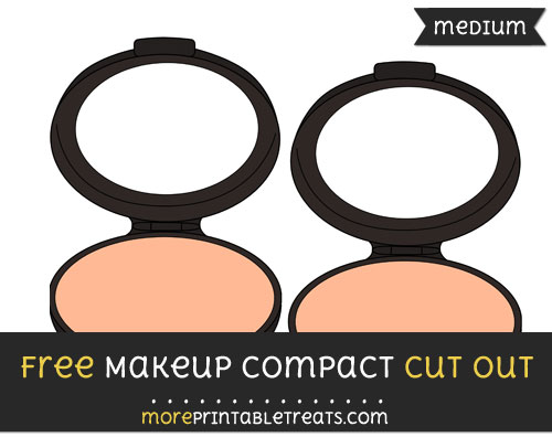 Free Makeup Compact Cut Out - Medium Size Printable