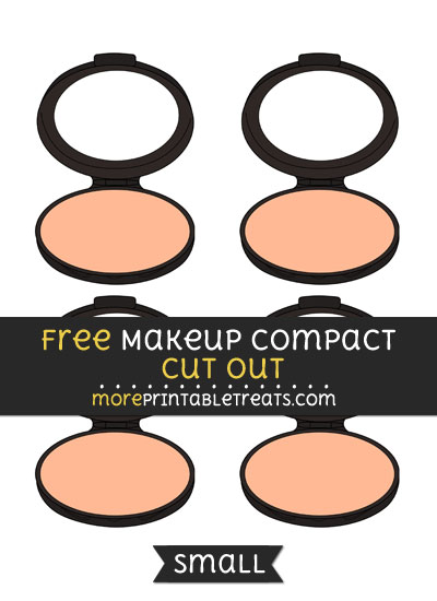 Free Makeup Compact Cut Out - Small Size Printable