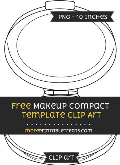 Free Makeup Compact Template - Clipart
