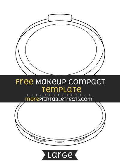 Free Makeup Compact Template - Large