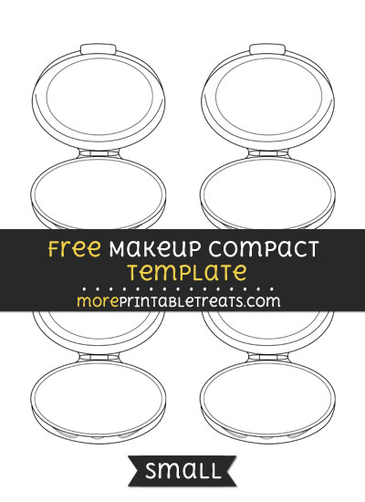 Free Makeup Compact Template - Small