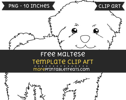 Free Maltese Template - Clipart