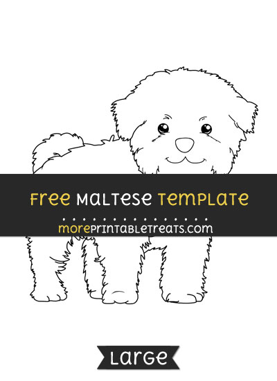 Free Maltese Template - Large