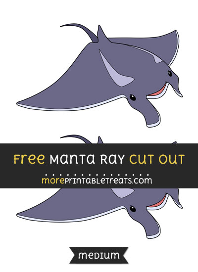 Free Manta Ray Cut Out - Medium Size Printable