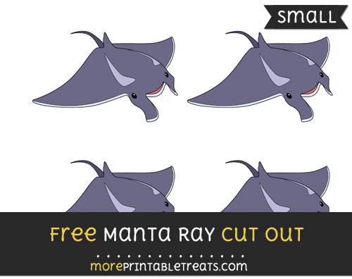 Free Manta Ray Cut Out - Small Size Printable