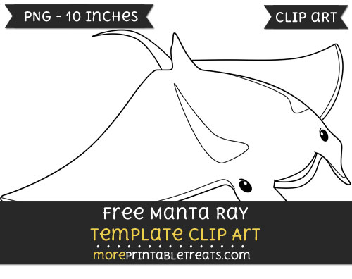 Free Manta Ray Template - Clipart
