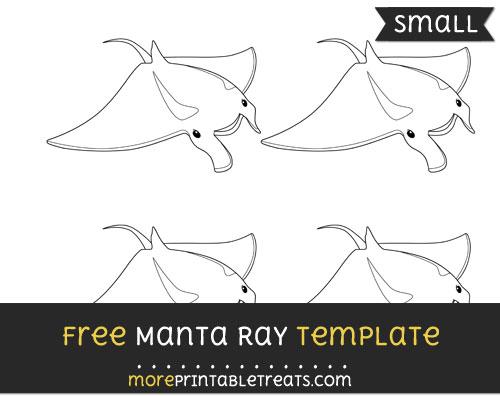 Free Manta Ray Template - Small
