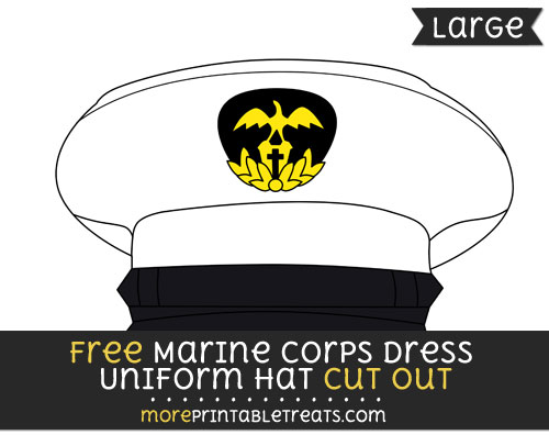 Free Marine Corps Dress Uniform Hat Cut Out - Large size printable