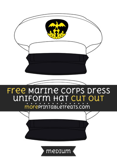 Free Marine Corps Dress Uniform Hat Cut Out - Medium Size Printable