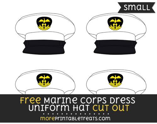 Free Marine Corps Dress Uniform Hat Cut Out - Small Size Printable