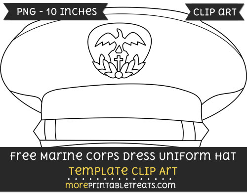 Free Marine Corps Dress Uniform Hat Template - Clipart