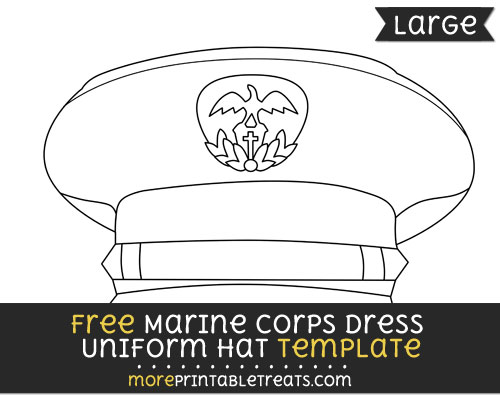 Free Marine Corps Dress Uniform Hat Template - Large