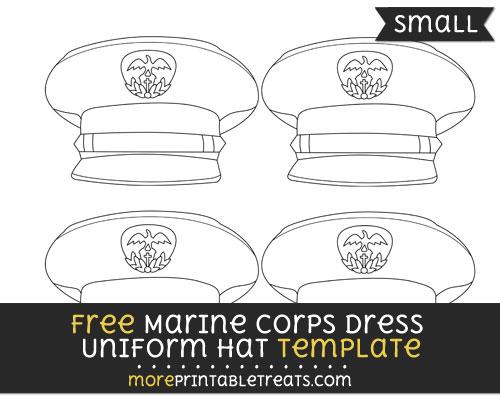 Free Marine Corps Dress Uniform Hat Template - Small