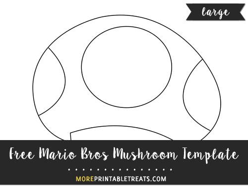 Free Mario Bros Mushroom Template - Large