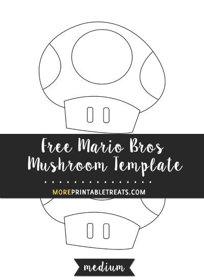 Free Mario Bros Mushroom Template - Medium Size