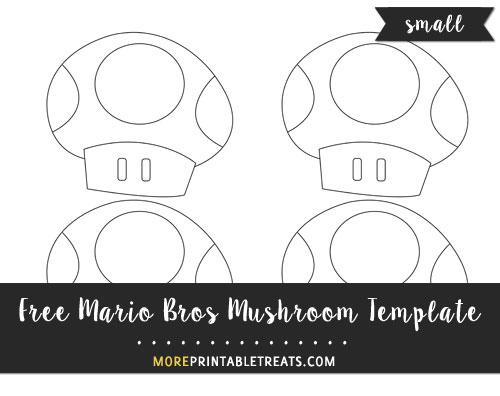 Free Mario Bros Mushroom Template - Small Size