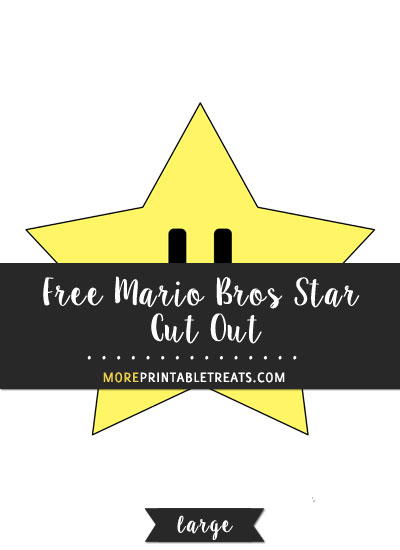 Free Mario Bros Star Cut Out - Large