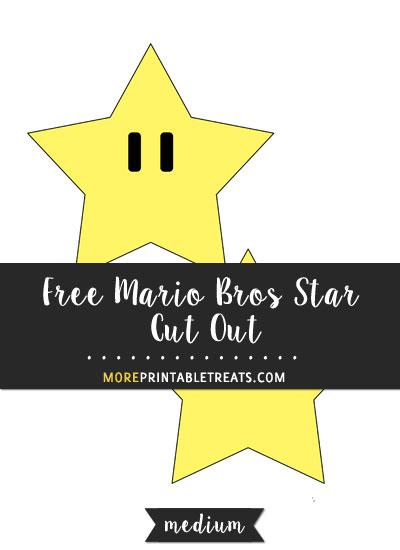 Free Mario Bros Star Cut Out - Medium