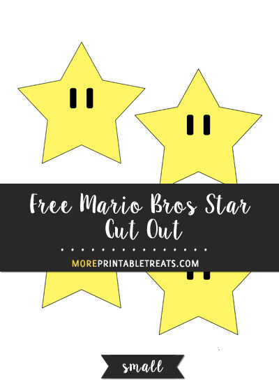 Free Mario Bros Star Cut Out - Small